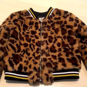 Truly me leopard jacket size 4T